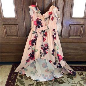 High low midi floral dress !!